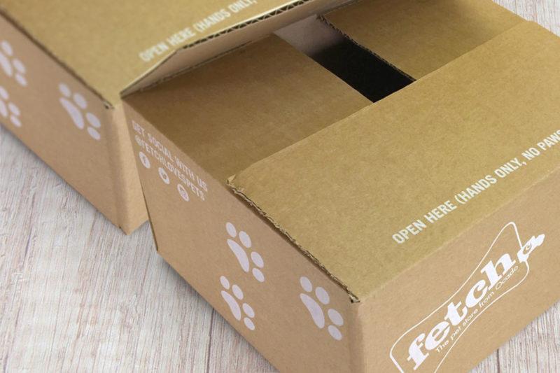 Ocado fetch custom printed cardboard box manufacturer UK